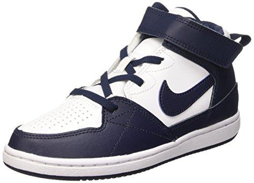 Nike Priority Mid Ps Scarpe da basketball, Bambini e ragazzi, Multicolore (White/Obsidian-Obsidian), 28