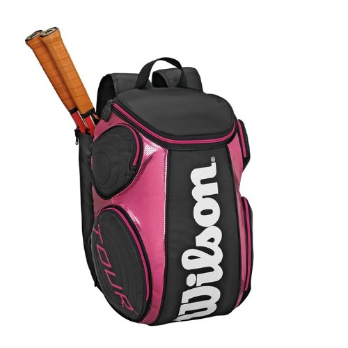 Purchase Wilson '12 Tour Large Tennis Backpack-Black/Pink ...