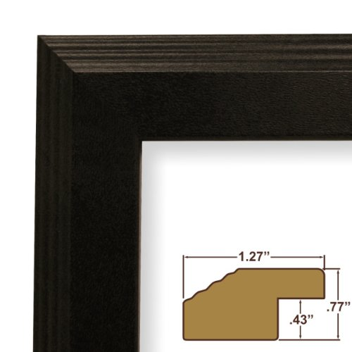 20x27 Picture Frame with Plexiglass, Backing, & Hanging Hardware, 1.25 in. Matte Black (FW4BK)