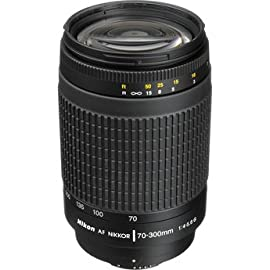Nikon AF Zoom Nikkor 70-300mm f/4-5.6G Lens Black (Imported)