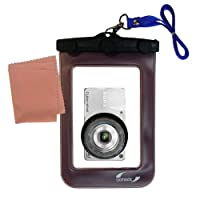 Lightweight Underwater Camera Bag suitable for the Sony Cyber-shot DSC-W350 Waterproof Protection
