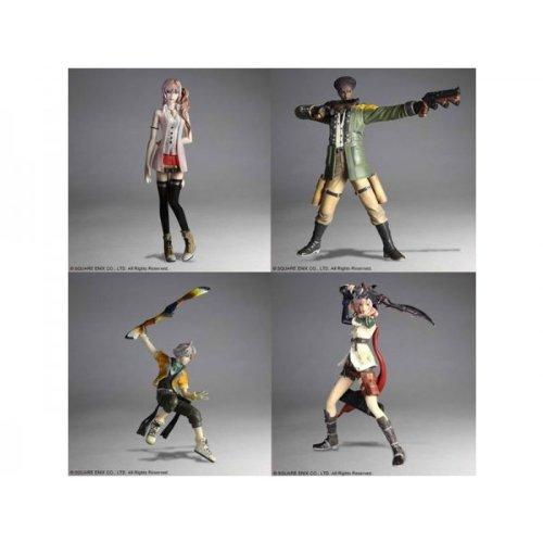 7549ccf03a2 Final Fantasy XIII Trading Arts Volume 1 Set of 4 Action Figures Serah  Lightning Hope Sazh