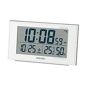 SEIKO CLOCK (セイコークロック) 目覚まし時計 温度表示 湿度表示 快適度表示 電波時計 SQ758W