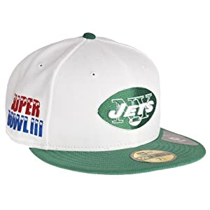 New Era New York Jets 59Fifty Fitted Super Bowl Side Patcher NFL Cap 7 1/4