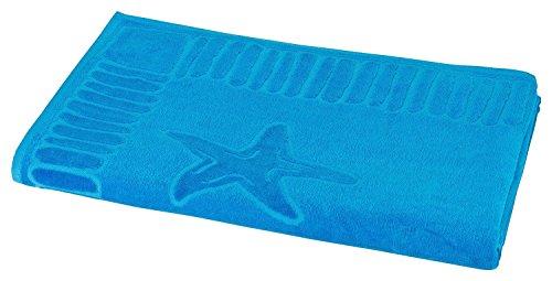 """hochwertiges Strandlaken / Strandtuch 100x200 cm türkis, in weiteren Farben erhältlich, direkt vom Hotelwäschehersteller, Serie """"Adria"""