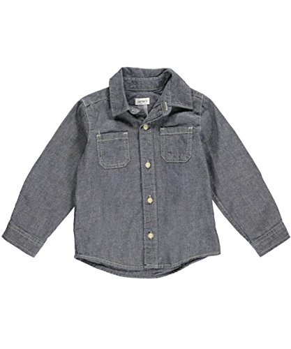 Carter'S Baby Boys' Woven Chambray Top (Baby) - Denim - 24 Months front-1069347