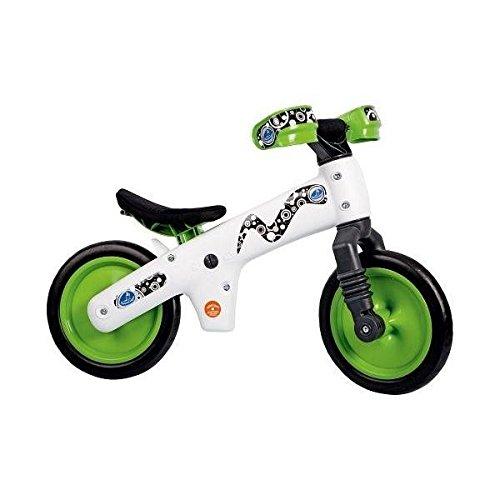 First Bike-C-Correpasillo Bicicletta, Colore: Bianco/Verde, Senza Pedali