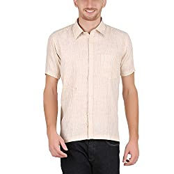 ALLTIMES Men's Beige Color Shirts