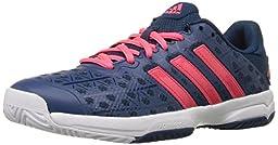adidas Performance Kids\' Barricade Club Xj Skate Shoe, Tech Steel/Flash Red/White, 1 M US Little Kid