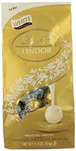 Lindt LINDOR Assorted White Chocolate Truffles, 9.3  Ounce
