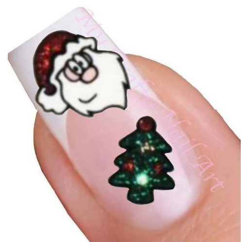 nailart sticker weihnachten glitter selbstklebend santa weihnachtsmann. Black Bedroom Furniture Sets. Home Design Ideas