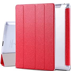 TECH SHIELD Leather Smart Case Flip Cover for Ipad AIR (RED)