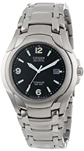 Citizen Men's BM6060-57F Eco-Drive 180 WR100 Titanium Bracelet Watch