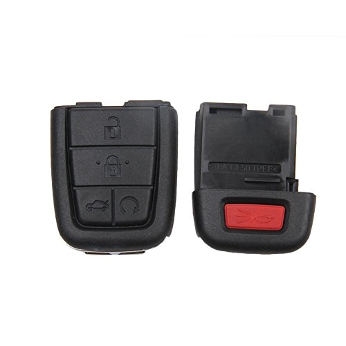 New Keyless Smart 5 Buttons Remote Car Key Shell Case Fob for 2008 2009 Pontiac G8 Replacement No Chip (2009 Pontiac G8 Key compare prices)
