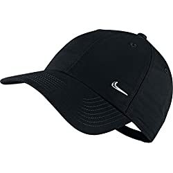 Nike Cap Metal Swoosh Logo, schwarz/silber, One Size, 340225