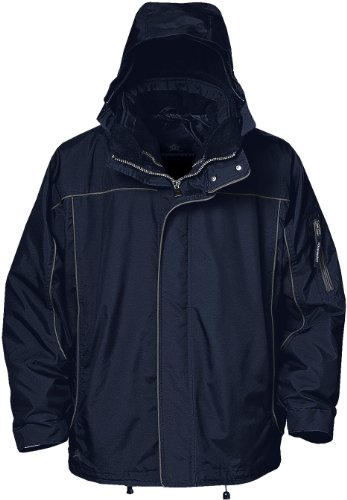 Stormtech ST001 Nylon Oxford Men's Nova Storm Shell System Jacket, XX-Large, Navy/Granite