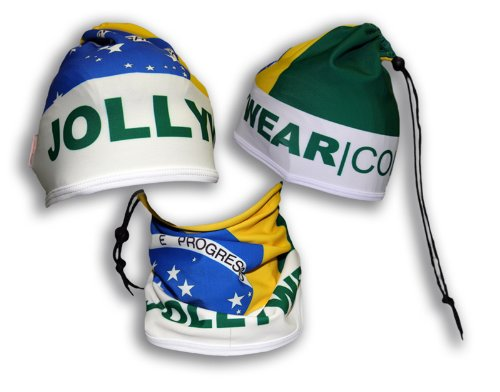 Image of JOLLYWEAR Cycling Thermal Cap and Neck Warmer (BRAZIL collection) (B0032WAKBM)