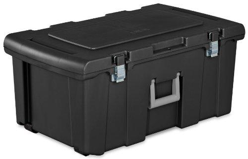 sterilite-18429002-footlocker-lid-and-base-with-titanium-handle-black-pack-of-2