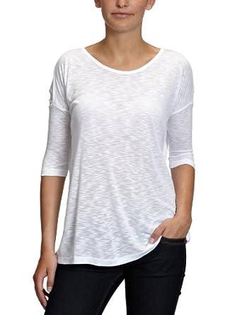 Vero Moda Lukas Love - Débardeur - Uni - Col ras du cou - Manches 3/4 - Femme - Blanc (Opt White) -  FR: 42 (Taille fabricant: XL)