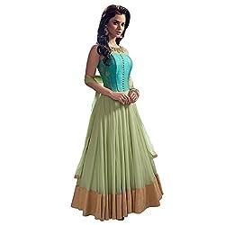 Lakshmi Fashion Creation Women's Tassar Silk Dress Material ( Blue )