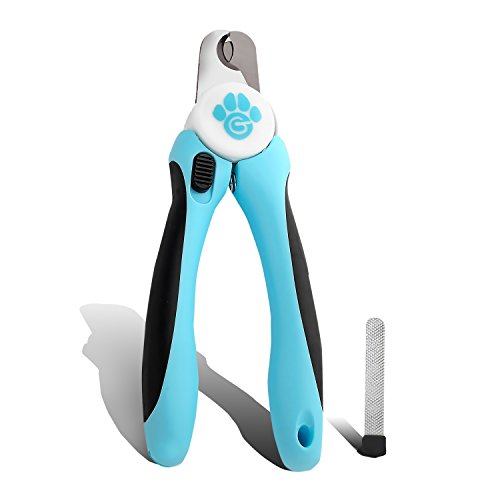 Professional Dog Nail Clippers, Guillotine Razor Sharp Blades, Safety Mechanism Prevents Overcutting Nails, Non-Slip Handles. Safe, Convenient & Easy to Use for At-Home Grooming, Nail File Included (Dog Toe Caps compare prices)