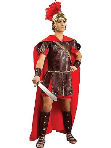Adult Mens Costumes Roman Greek Warrior Costume Adult Plus(Jacket 44-48) (Standard)