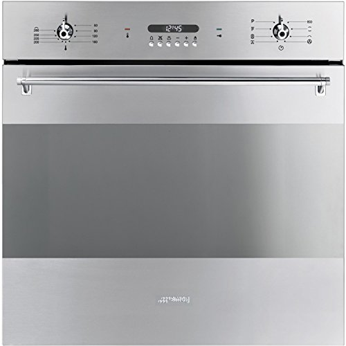 Smeg SFP378X Classic 60cm Stainless Steel Pyrolytic Multifunction Maxi Oven