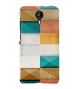 PrintVisa Color Block Pattern 3D Hard Polycarbonate Designer Back Case Cover for Micromax CanvasNitro4G E371