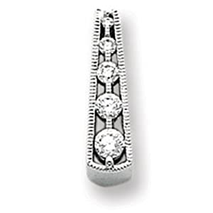 IceCarats Designer Jewelry 14K White Gold Diamond Journey Pendant