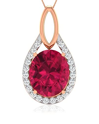 Art of Diamond Set catenina e pendente Oro Rosa