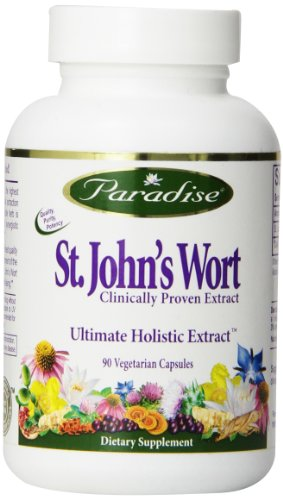 Paradise Herbs Vegetarian Capsules, St. Johns Wort Extract, 90 Count