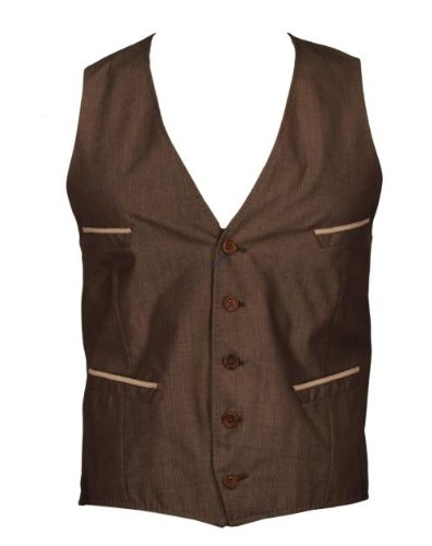 Paul Smith Waistcoat Mohair & Pocket Trim - Brown