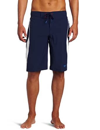 Speedo Men's Team Collection Sonic Boom Board Shorts, US Navy, 38