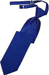 Kyle Thomas Banded Satin Windsor Pretied Tie Royal
