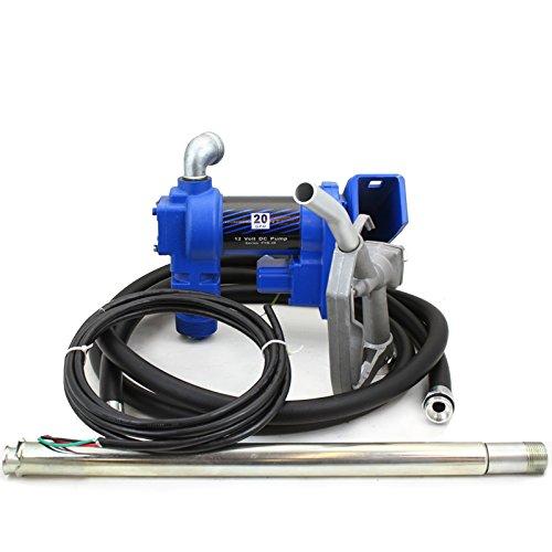 XtremepowerUS 12 Volt DC 20GPM Gasoline Fuel Transfer Pump Self-Priming W/ Nozzle (Barrel Fuel Pump compare prices)