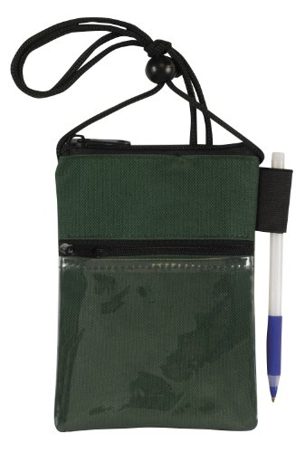 Bags For Less Travel Neck Wallet Passport Badge Holder, Forest Green