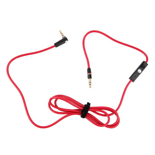 3.5Mm Replacement Pro And Detox Edition Cable 800 Aux Cord With Control Talk Mic Speaker For Dr Dre Headphones Monster Solo Beats Studio 1.2M For Iphone 5S Samsung Galaxy S5