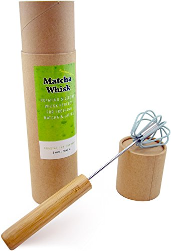 Cheapest Prices! Coastal Tea Company Matcha Whisk & Green Tea Powder Frother, Rotating Latte Mixer, ...
