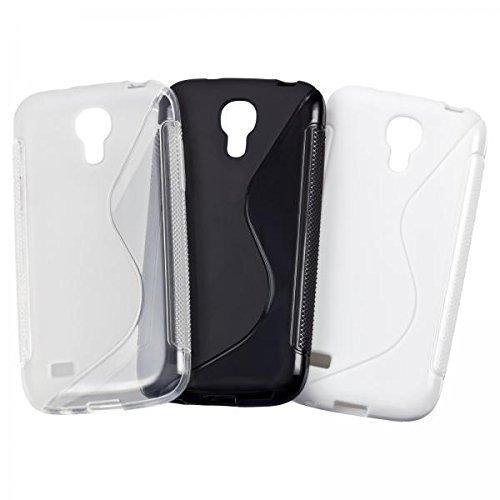 ECENCE Samsung Galaxy S4 mini I9190 I9195 I9192 Duos 3in1 Zubehör Set case schutz hülle handy tasche cover schale schwarz, weiß, transparent 11020104