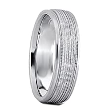 buy 6 Mm New Argentium 935 Non Tarnish Silver Wedding Band Ring Beaded Design