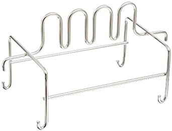 San Jamar CNCRK Cut-N-Carry Stainless Steel Shelf Mount Hanging Rack, For Cutting Boards and Board-Mates