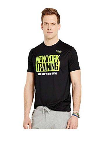 POLO SPORT Men's Performance Graphic T-Shirt (Medium, Polo Black)