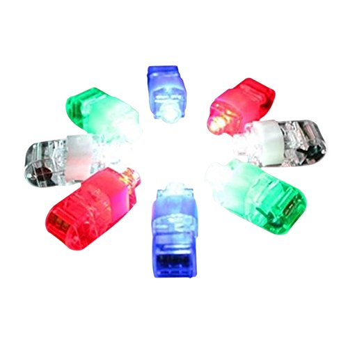 Halloween Gift, 80PCS Finger Flashlights, LED Finger Light Beams Ring Torch Great Children Toy Party Dress Up Tools