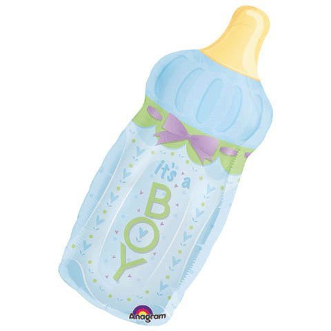 Anagram It's A Boy Baby Bottle Super Shape Balloon (1 Ct)