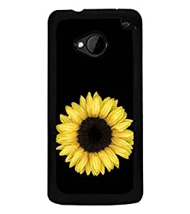 Sunflower 2D Hard Polycarbonate Designer Back Case Cover for HTC One :: HTC One M7