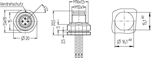 8027506Hammer Drill/fsfd4.50.5/16Accessories for Actuator/sensor Lines Flange Stud