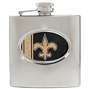 NFL New Orleans Saints 6oz Stainless Steel Hip Flask by Great American Products