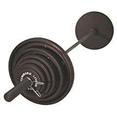 USA Sports by Troy Barbell 300 lb. Olympic Black Weight Set with Black Bar by USA Sports