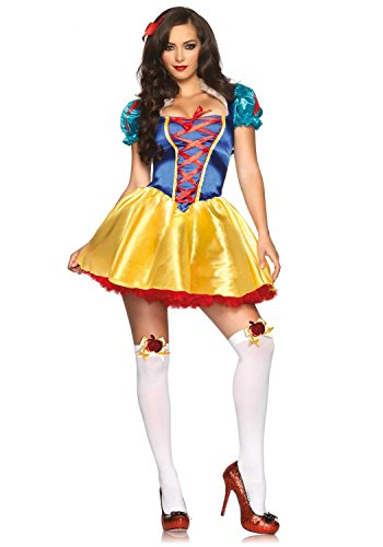[Leg Avenue Women's Fairytale Snow White] (Rebel Snow White Adult Womens Costumes)