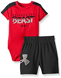 Under Armour Baby Release The Beast Set, Risk Red, 9-12 Months